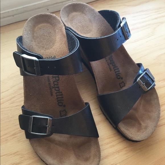 2b4de9ae944 Birkenstock Shoes - Birkenstock papillio wedge sandals like new